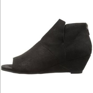 Shoes - NEW Eileen Fisher Peep Toe Wedge Ankle Boots